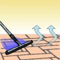 Schritte 6: Schmutzflotte abnehmen und Oberfläche trocknen lassen